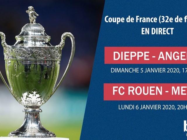 DIRECT - Coupe de France : suivez Dieppe-Angers en 32e de finale