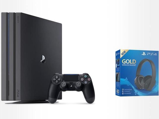 Super prix pour le pack PS4 Pro et le casque-micro sans fil Sony Gold : 299.99 €