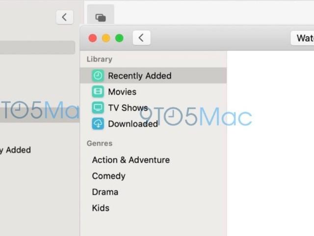 Premières captures d'écran des nouvelles applis Music et TV pour Mac, avant la conférence de lundi