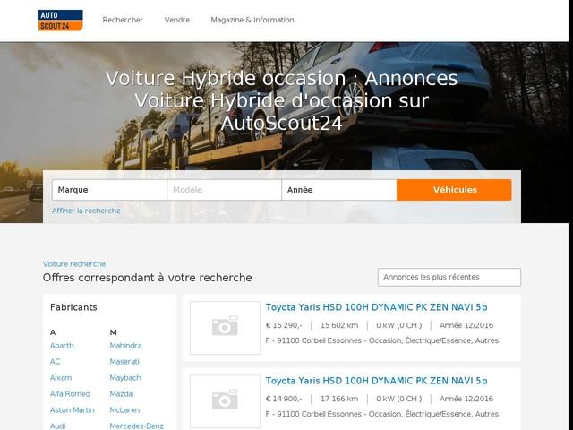 Voiture Hybride occasion : Annonces Voiture Hybride d'occasion sur AutoScout24