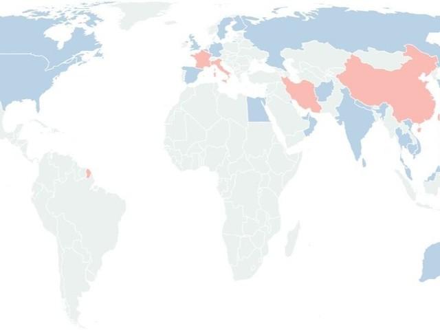 Après le coronavirus en Italie, la carte qui fait le point sur le Covid-19 dans le monde