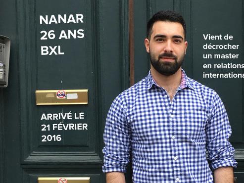 """Nanar, réfugié syrien à Bruxelles depuis 1,5 an: """"Les Syriens sont fiers, demander de l'aide nous blesse"""""""