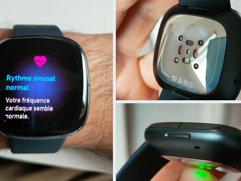 Les tests de Mathieu: rythme et accident cardiaque, température, stress… la Fitbit Sense est la première montre SANTÉ