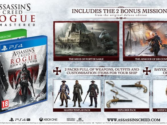 Assassin's Creed: Rogue Remastered officiellement annoncé