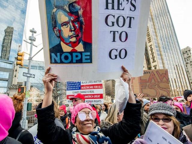 Etats-Unis: une foule compacte pour la «Marche des femmes» à New York