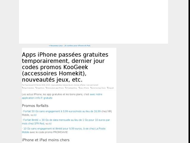 Apps iPhone passées gratuites temporairement, dernier jour codes promos KooGeek (accessoires Homekit), nouveautés jeux, etc.