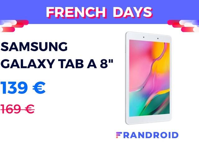 Samsung Galaxy Tab A 8″ à 139 € : c'est la tablette pas chère des French Days