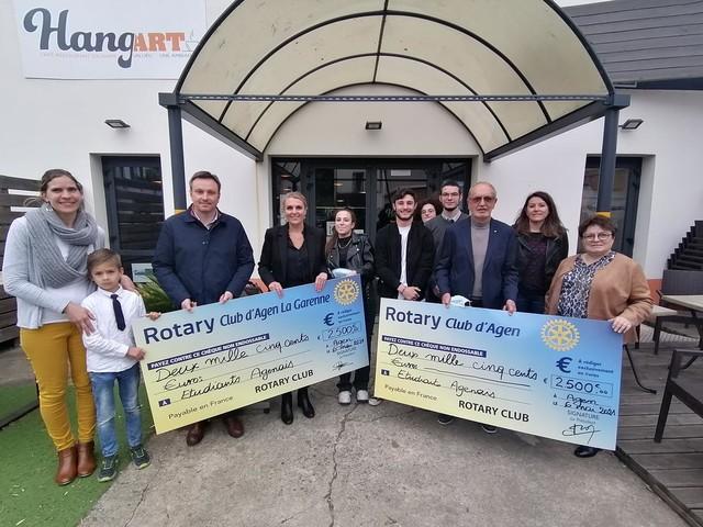 Agen: le Rotary Club offre 500 repas aux étudiants, à déguster au Hang'Art
