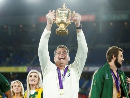 """Mondial de rugby: """"les Sud-Africains n'abandonnent jamais"""", promet Erasmus"""