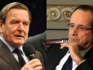 Schröder a son héritier. C'est un Français et il est président de la république.