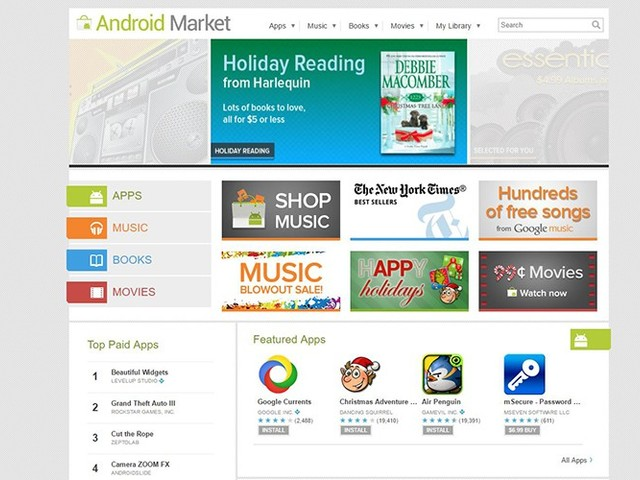 Google abandonne l'Android Market, le vieux magasin d'apps Android