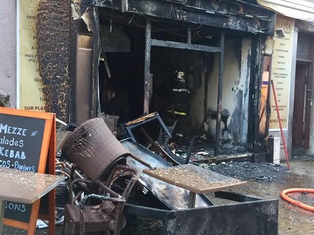 Le Mans : un restaurant a pris feu en centre-ville