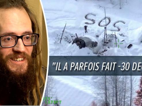 """Un miraculé survit 20 jours seul dans la neige en Alaska: """"Je portais un pyjama et j'étais sans chaussettes"""" (vidéo)"""