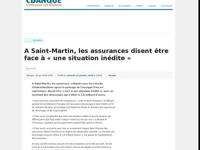A Saint-Martin, les assurances disent être face à « une situation inédite »