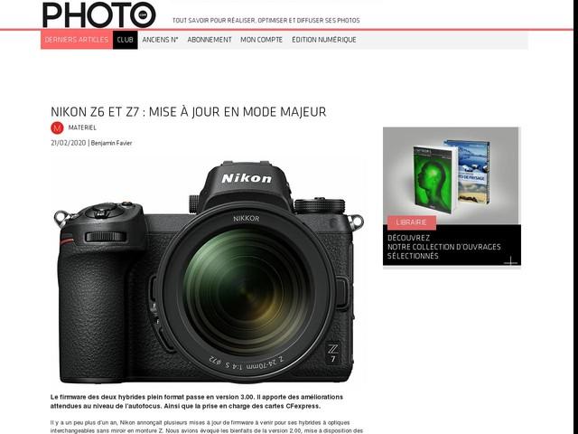 Nikon Z6 et Z7 : mise à jour en mode majeur