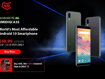 UMIDIGI débute la commercialisation du A3S à 59$ sous Android 10 stock, le killer de Samsung Galaxy A10