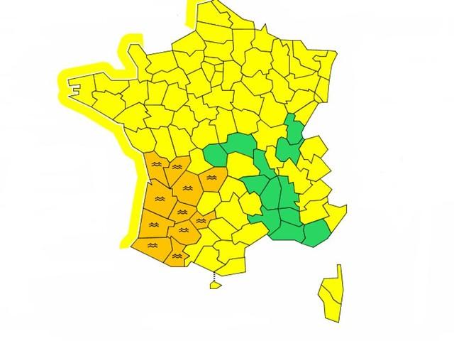 Météo France maintient 11 départements en vigilance orange