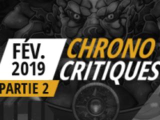 [Vidéo] Chrono Critiques, les jeux joués en février 2019 - Partie 2