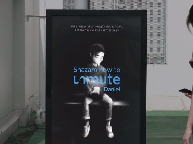 Shazam soutient une campagne d'affichage digital contre le cyber-harcèlement