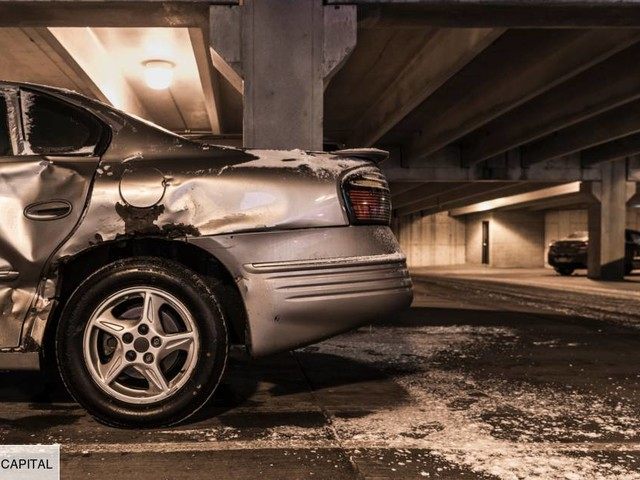 Accident sur parking