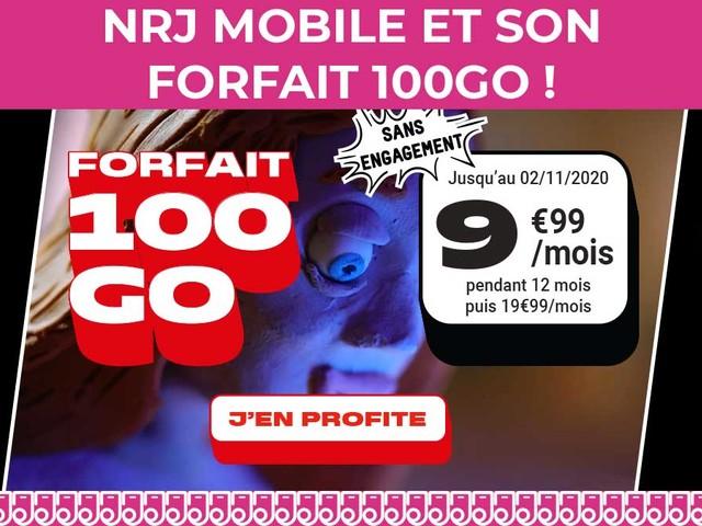NRJ Mobile et son forfait mobile pas cher avec 100Go de 4G !