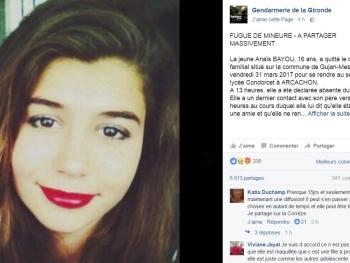 Appel à témoins suite à la disparition d'une adolescente de 15 ans