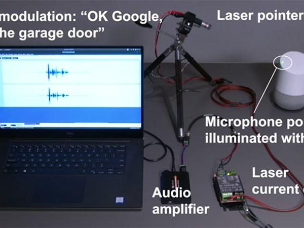 Pirater un assistant vocal, simple comme un coup de laser
