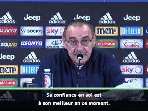 """Foot - ITA - Juventus - Maurizio Sarri, après Juventus Turin-Parme: «Cristiano Ronaldo est un """"animal"""" qui vit pour marquer des buts»"""