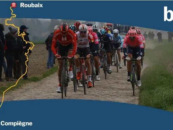 CARTE - Paris Roubaix 2020 : découvrez le parcours de la course cycliste avec ses 30 secteurs pavés - Le départ de la 118e édition du Paris-Roubaix sera donné le dimanche 12 avril 2020 à Compiègne. Le parcours comprend cette année 55 km de pavés, soit 500 mètres de plus que l'an dernier. Découvrez le en détail ...+ Tweets by Paris_Roubaix -( Eric Turpin, France Bleu Nord, France Bleu Picardie) - L