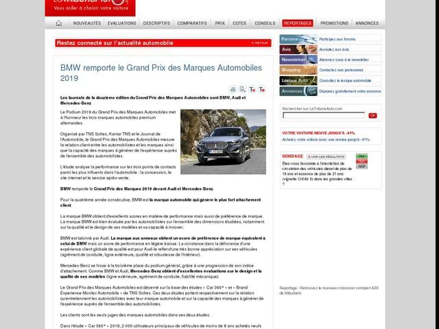 BMW remporte le Grand Prix des Marques Automobiles 2019