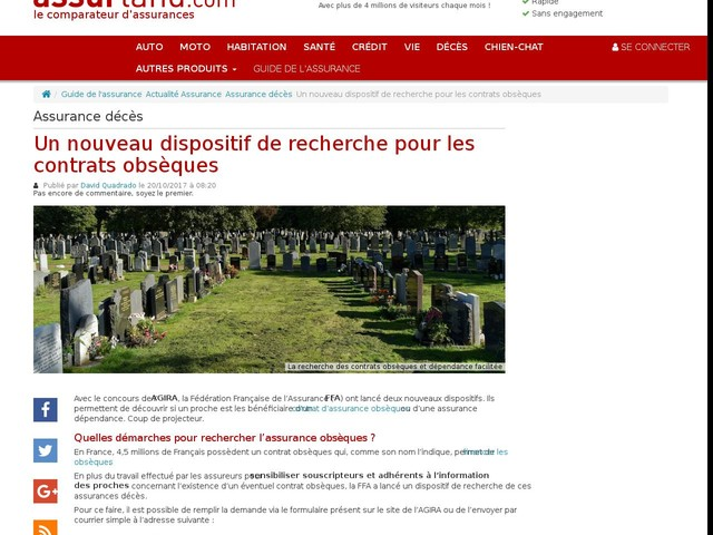 Un nouveau dispositif de recherche pour les contrats obsèques