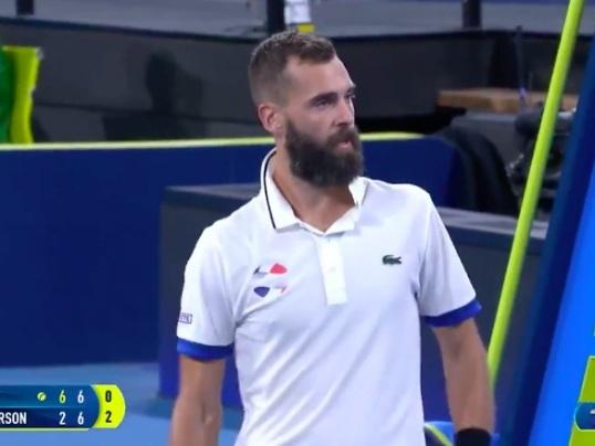 Benoît Paire insulte un spectateur en plein match