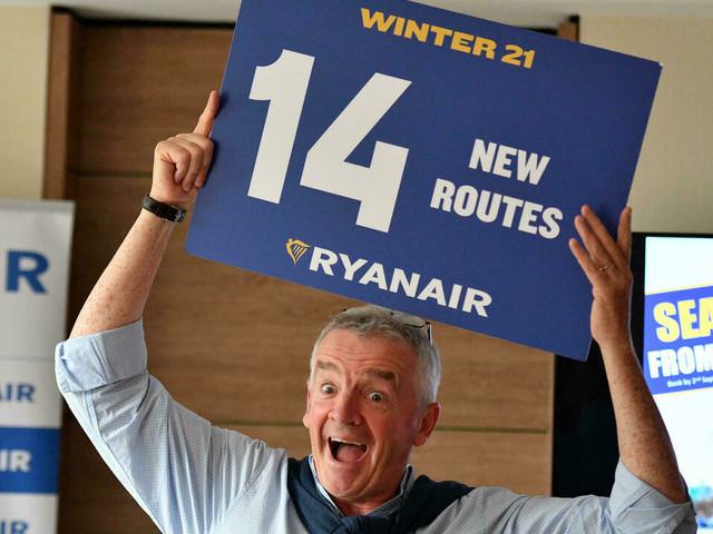 """Ryanair a renoué avec les bénéfices en juillet et août mais prévoit un """"hiver difficile"""""""