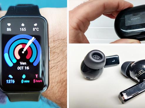 Les tests de Mathieu: avec ces écouteurs sans fil et cette montre, Huawei nous rappelle qu'il connait bien son métier