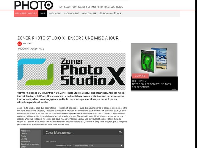 Zoner Photo Studio X : encore une mise à jour