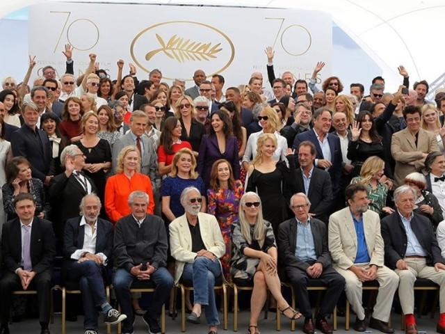 115 stars pour la photo de famille du 70e Festival de Cannes