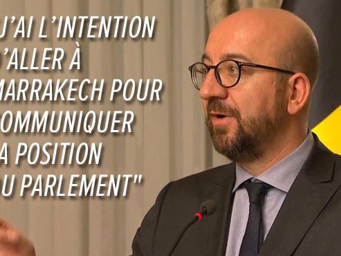 Crise gouvernementale: Charles Michel remet la question du pacte migratoire entre les mains du Parlement