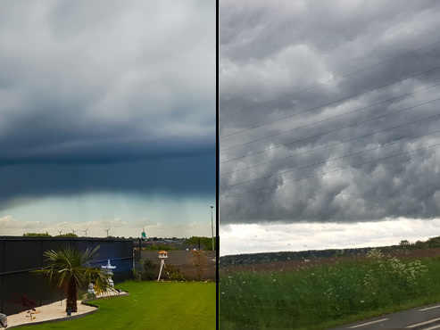 Prévisions météo: des orages éclatent puis laissent place à un ciel étrange et impressionnant (vos photos)