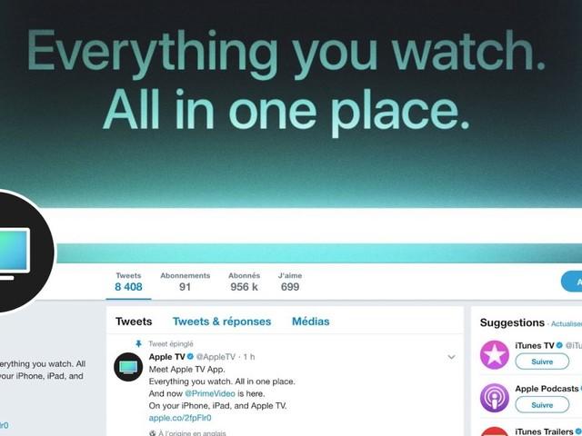 Apple met en place un compte Twitter dédié à l'Apple TV et à ses contenus