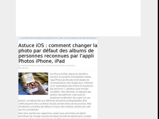 Astuce iOS : comment changer la photo par défaut des albums de personnes reconnues par l'appli Photos iPhone, iPad