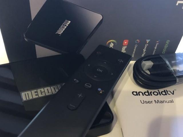 BOX TV MECOOL KM3 sous Android TV 9 certifiée Google, 4 GO/128 GO Netflix 4K via patch à 72€14 (testée)