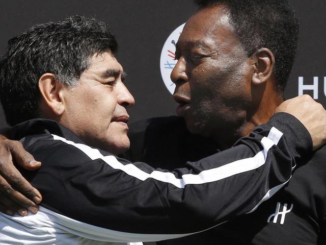 """""""Roi"""" Pelé contre """"Dieu"""" Maradona, duel au Panthéon"""
