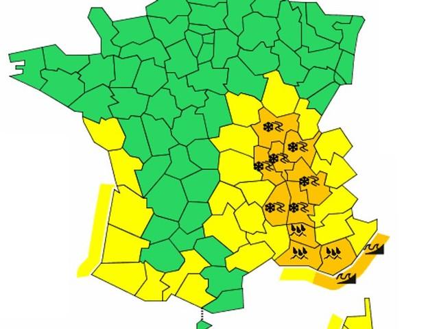 Météo: 11 départements placés en vigilance orange