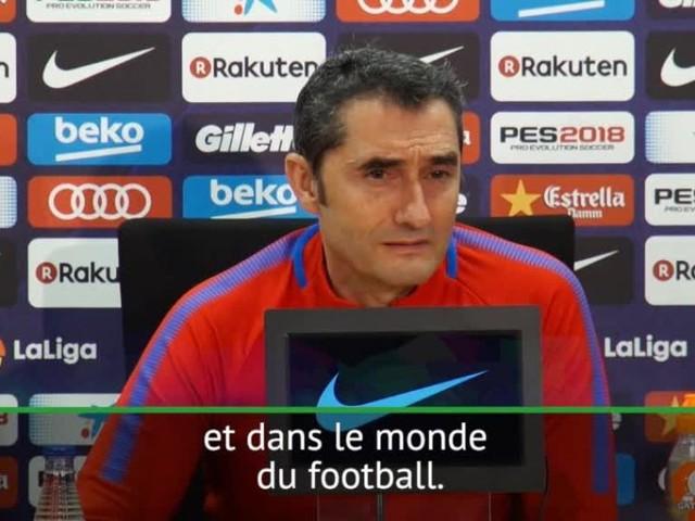 Foot - ESP - Barça - Valverde : «Ronaldinho a marqué une époque du Barça»