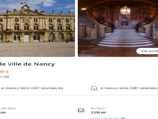"""L'hôtel de Ville de Nancy est """"à vendre"""" sur le Bon Coin"""