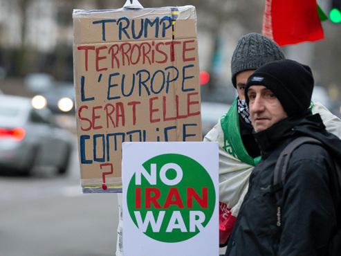 Tensions USA-Iran: quelque 200 manifestants à Bruxelles pour que la Belgique se distancie de l'attaque de Trump