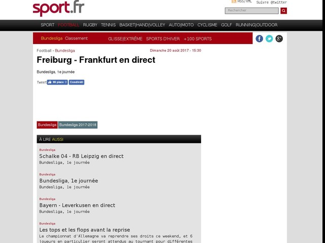 Freiburg - Frankfurt en direct