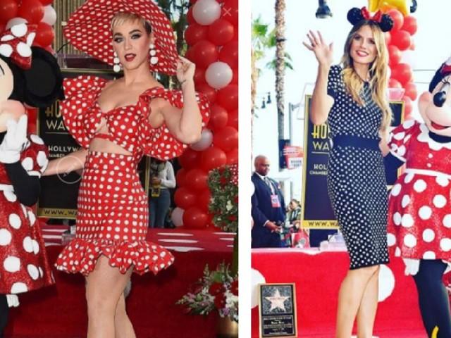 Katy Perry et Heidi Klum se la jouent Minnie Mouse pour l'inauguration de l'étoile de leur copine