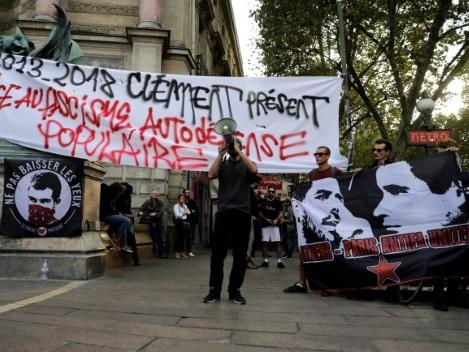 Manifestation antifasciste à Paris en hommmage à Clément Méric