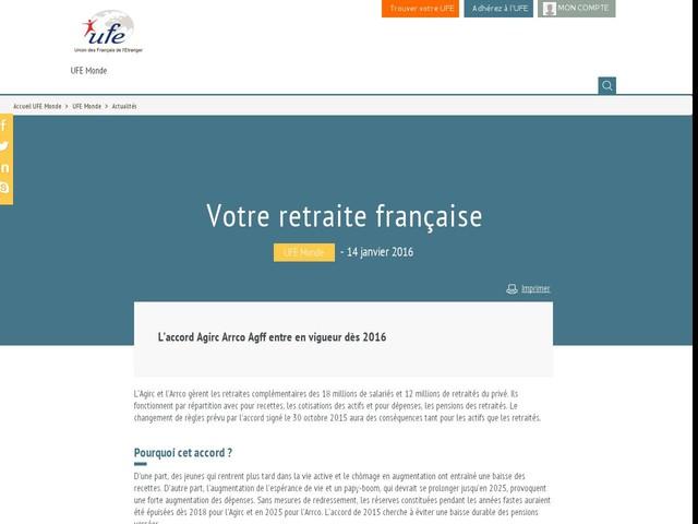 Votre retraite française